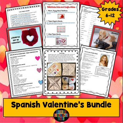 Spanish Lesson Plans for Valentine's Day, Día de los enamorados