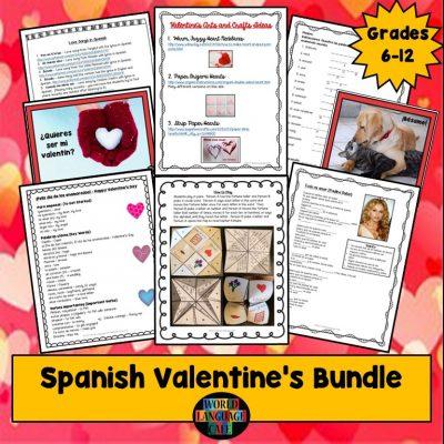Spanish Lesson Plans for Valentine's Day, Día de los enamorados