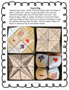 Make this fortune teller craft with your French, Spanish students for Valentine's Day