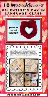 panish Lesson Plans for Valentine's Day, Día de los enamorados
