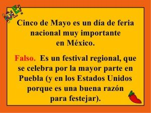 True, false questions about Cinco de Mayo for your Spanish students