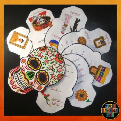 Day of the Dead Mini Skull Book, Spanish Crafts, Activities