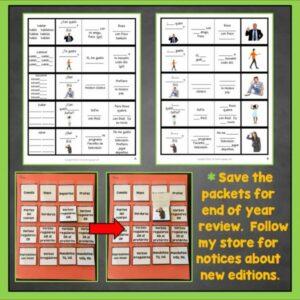 Teach Spanish verbs with AR verbs interactive notebook trifold flashcards