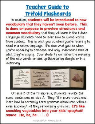 French, Spanish Comprehensible Input Activities