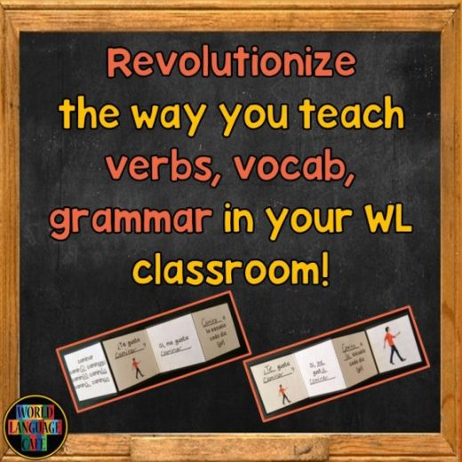 Trifold Flashcards - Revolutionize the Way You Teach Verbs, Vocab, and Grammar in Your World Language Classroom!