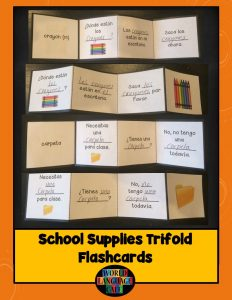 Using Trifold Flashcards
