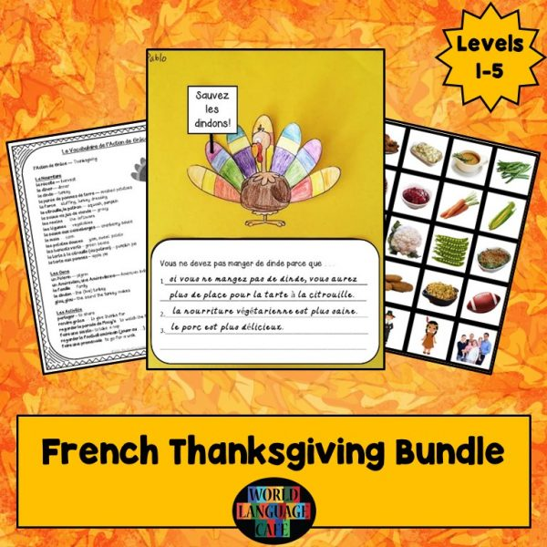 French Thanksgiving Lesson Plans, l'Action de Grâce
