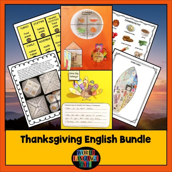 ESL Thanksgiving Lesson Plans, Games, Writing Activities
