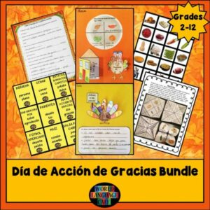 Play these games and activities with your Spanish students for Thanksgiving