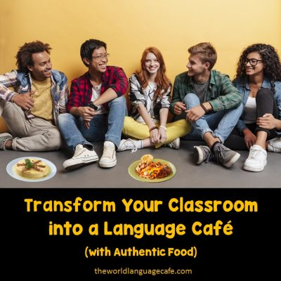French, Spanish language cafe, activities, lesson plans