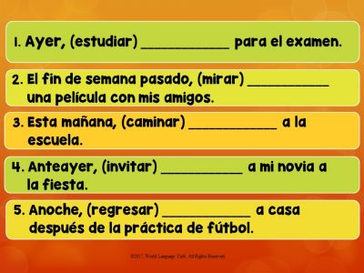Spanish Preterite vs. Imperfect Lesson Plans, PowerPoint