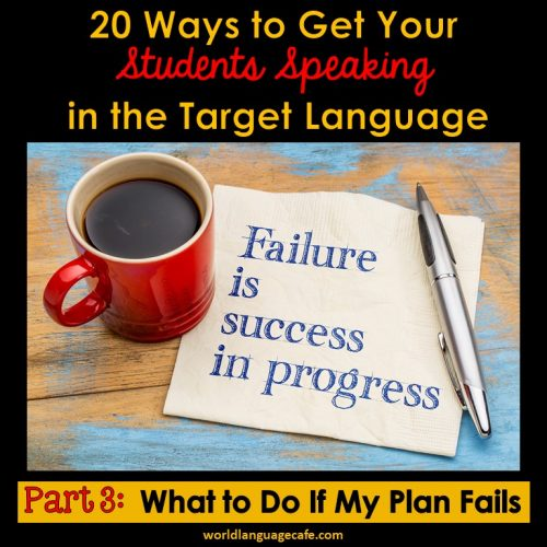 20 Ways to Get Your Students Speaking in the Target Language, Comprehensible Input