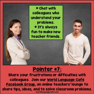 Support Group for Spanish, French, Italian, German Teachers, World Language Cafe Facebook Group