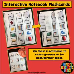 How to Use French, Spanish Interactive Notebook Trifold Flashcards