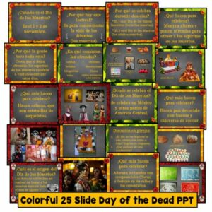 Day of the Dead PowerPoint for Spanish Class, Día de los Muertos