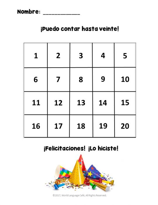 how to teach spanish numbers 1 100 french numbers 1 100 world language cafe. Black Bedroom Furniture Sets. Home Design Ideas