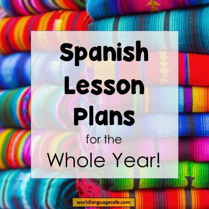 spanish lesson plans year long curriculum for spanish. Black Bedroom Furniture Sets. Home Design Ideas