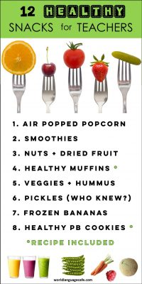 Healthy snacks that teachers can eat in a hurry