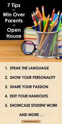 Open House, Back to School Ideas for Teachers