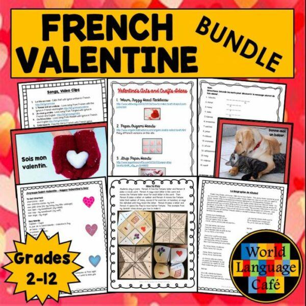 Valentine's Day French Lesson Plans for Le Jour de la Saint Valentin
