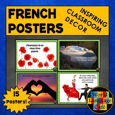 Inspirational Quotes in French for French Class Decor