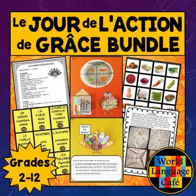 French Thanksgiving lesson plans for Le Jour de l'Action de Grâce
