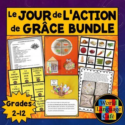French Thanksgiving lesson plans for Le Jour de l'Action de Grâce