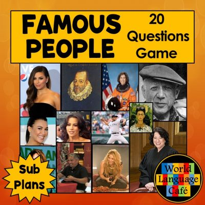 Famous Hispanics, Spanish Lesson Plan, Game, Activities