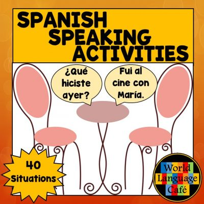 Spanish Speaking Activities to test oral proficiency in your Spanish classes.