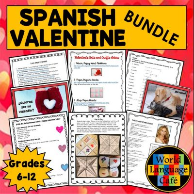 Spanish Valentine's Day Lesson Plans for Día de los enamorados