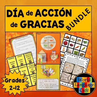 Spanish Lesson Plans for Thanksgiving, Día de Acción de Gracias