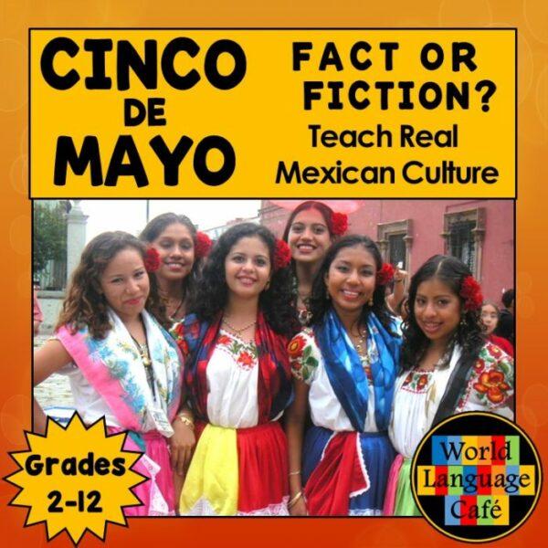 Spanish Cinco de Mayo Lesson Plans for Spanish 1, Spanish 2, and Spanish 3