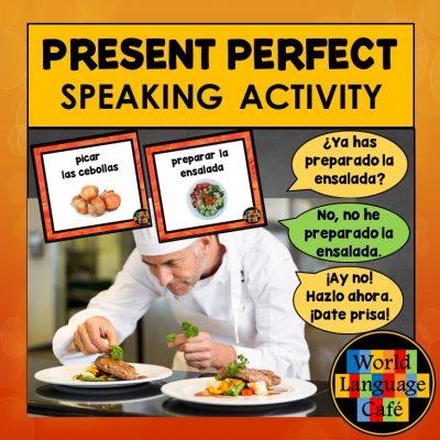 Presente del indicativo lesson plans for Spanish class
