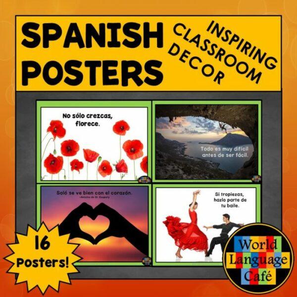 Inspirational Quotes in Spanish, Spanish Class Decor