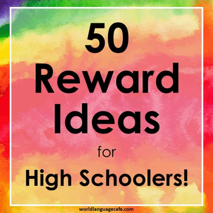 Classroom Incentive Ideas For Middle School ~ Reward ideas for high school or middle students