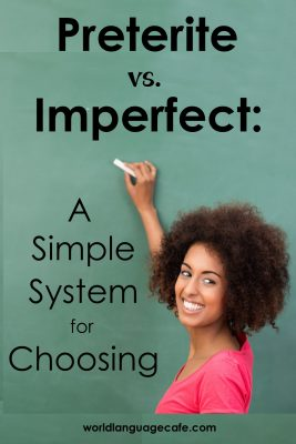 Teach students to choose between preterite and imperfect tenses.