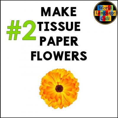 Learn how to make cempasúchil flowers, tissue paper flowers for Day of the Dead