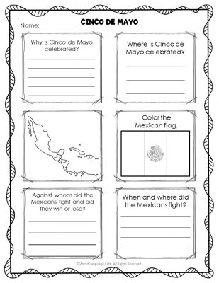 Cinco de Mayo Spanish Activity