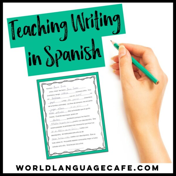 Spanish Writing Project Templates
