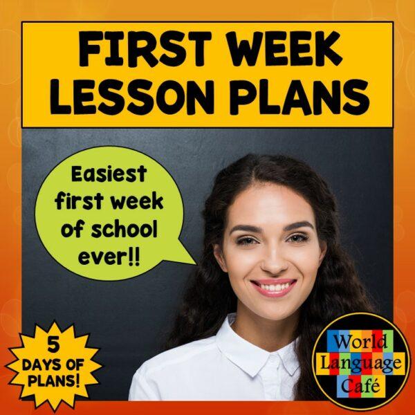 Spanish First Week Activities