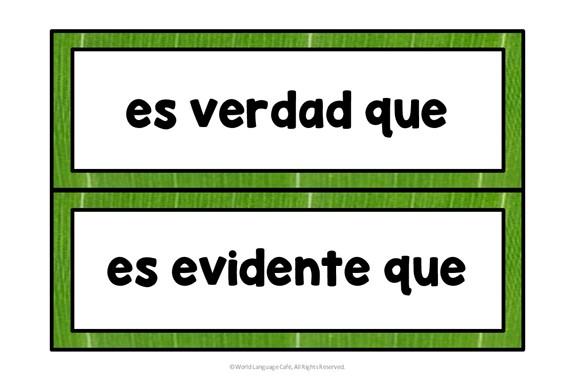 Spanish Subjunctive Indicative Triggers
